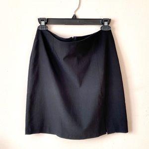 Black Fitted Office Skirt